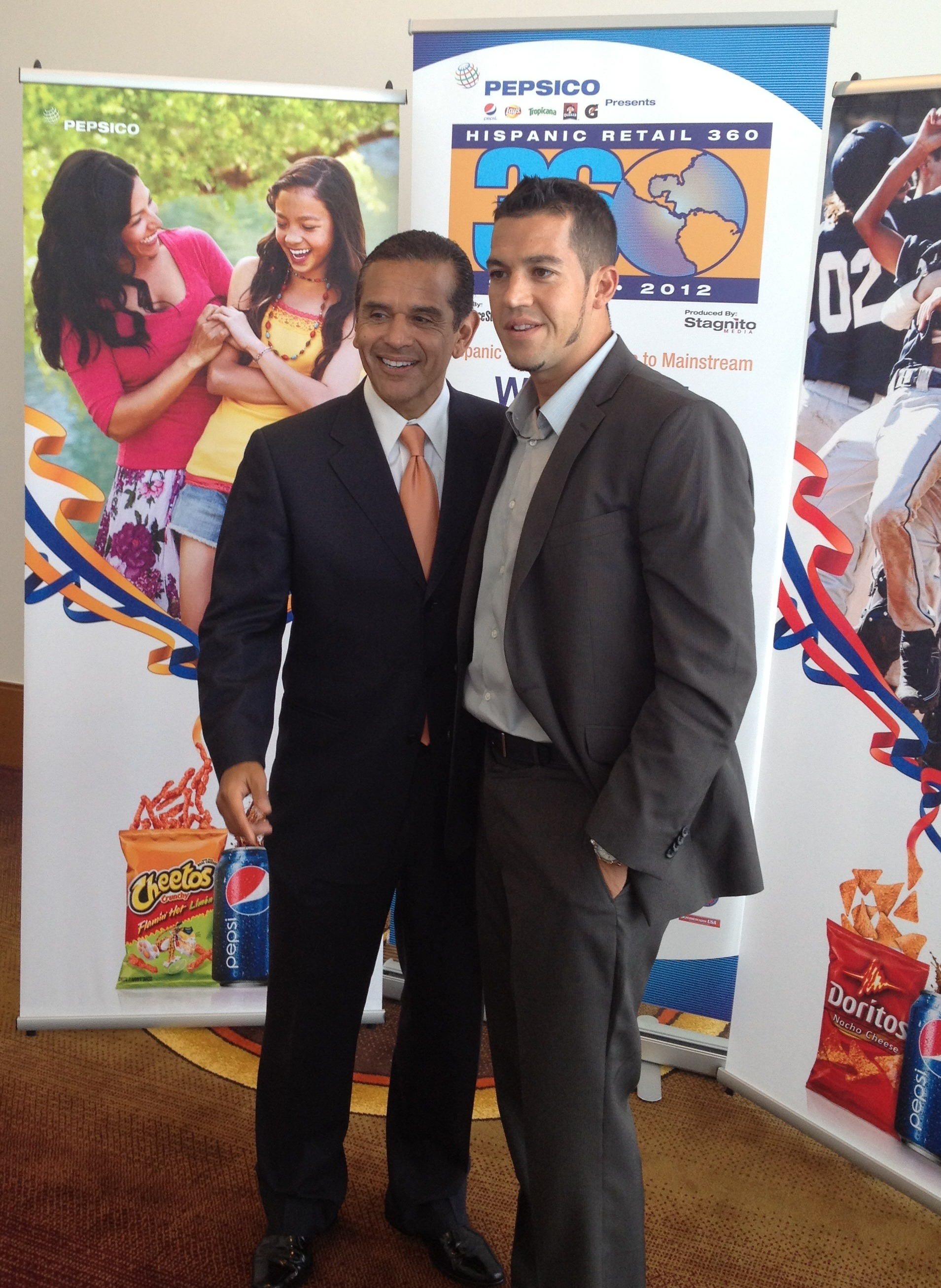 Mayor Villaraigosa and Eric Diaz