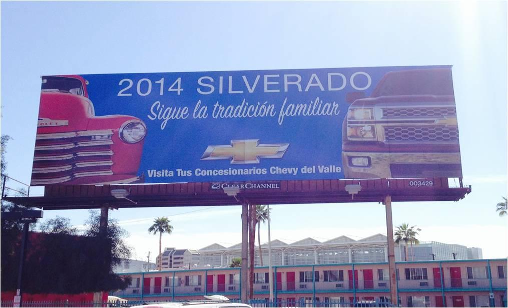 Chevy Silverado billboard found near downtown Phoenix