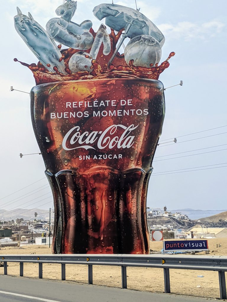 coca cola billboard - working with latin american ad agencies