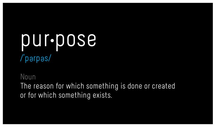Definition of purpose used in talk about personal branding with a multicultural perspective