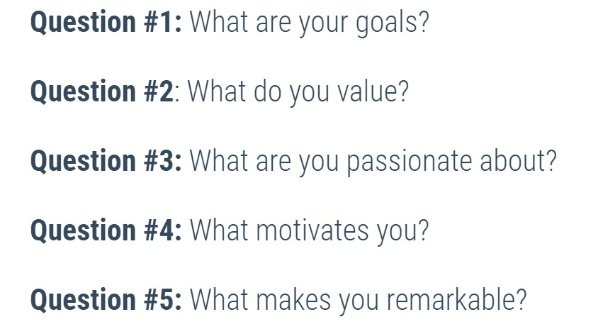Building a personal brand questions